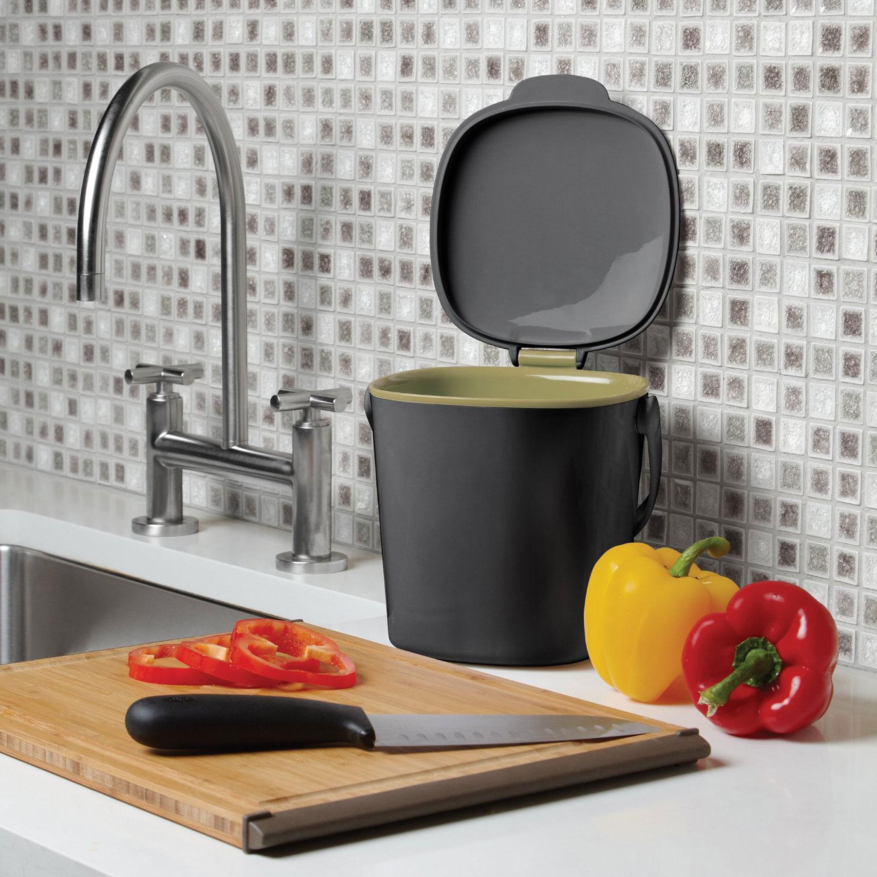 OXO Good Grips kleiner Küchen Komposteimer, Grau NEU | eBay